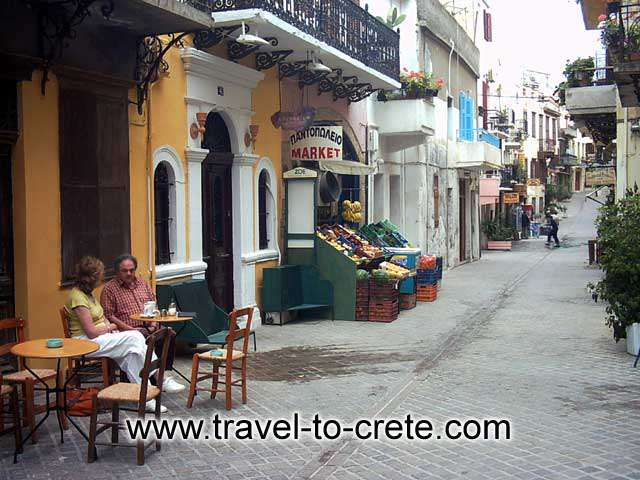 Have a coffee at a traditional Greek kafenio in the old town